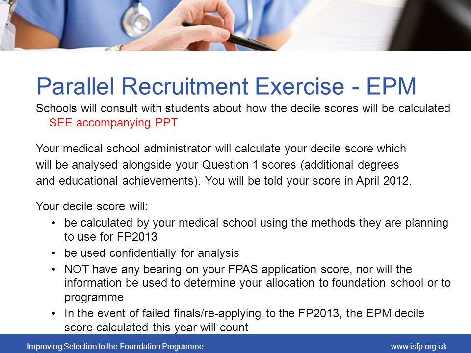 Parallel Recruitment Exercise - EPM