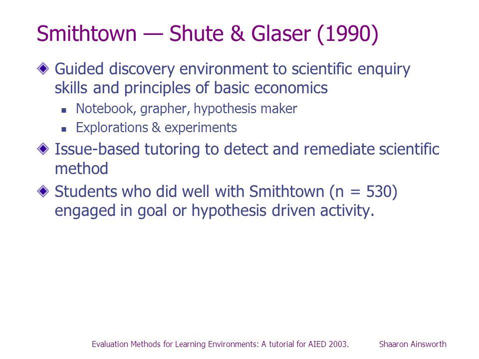 Smithtown — Shute & Glaser (1990)