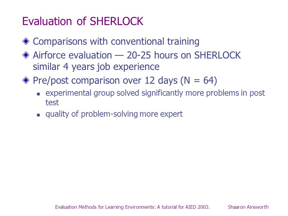 Evaluation of SHERLOCK