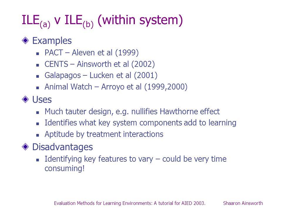 ILE(a) v ILE(b) (within system)