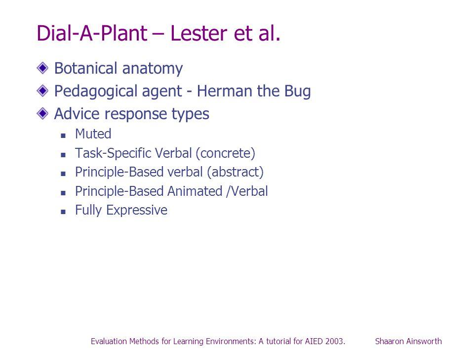 Dial-A-Plant – Lester et al.