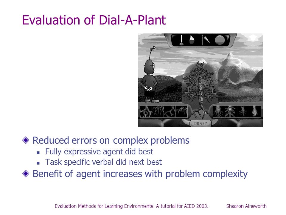 Evaluation of Dial-A-Plant