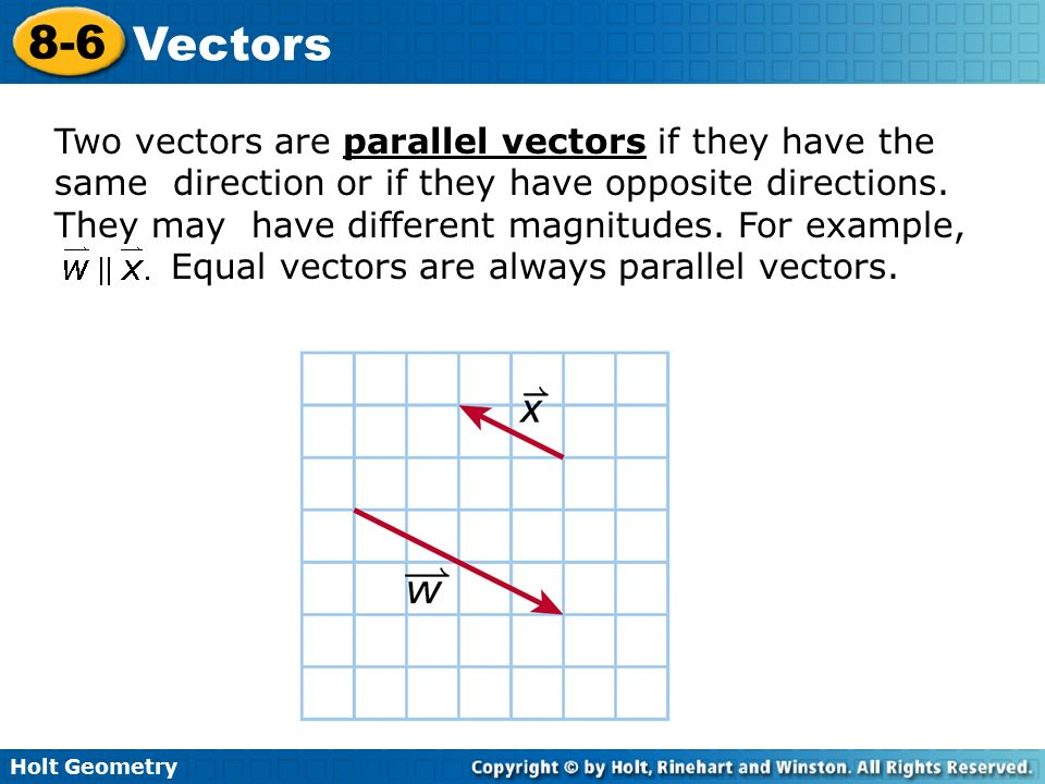 Parallel two vectors