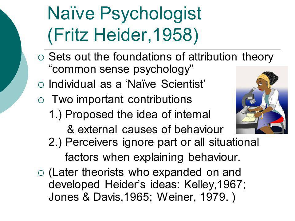 Naïve Psychologist (Fritz Heider,1958)