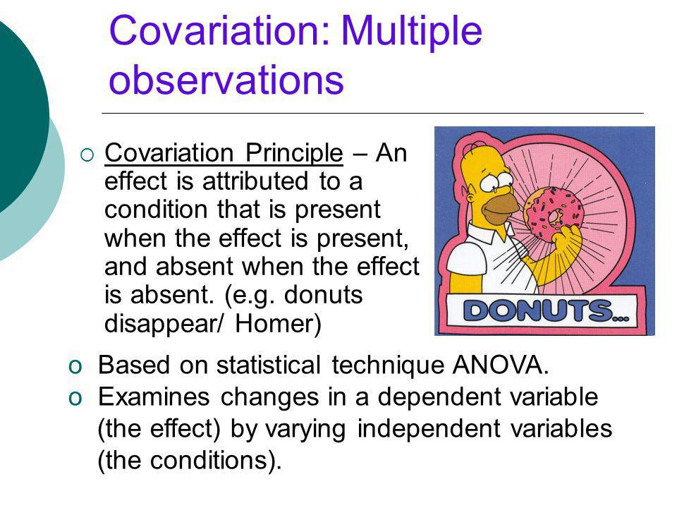 Covariation: Multiple observations