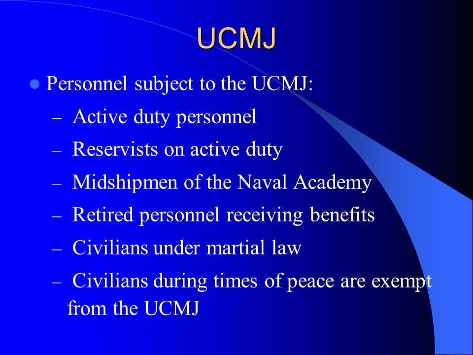 UCMJ Article 92: Failure to Obey Order or Regulation