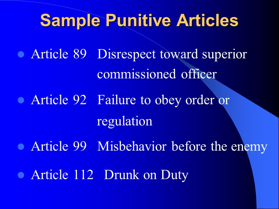 article 89 of the ucmj When one seeks to explain something, first they must define what they are  explaining in the case of a document or other media, the definition is.