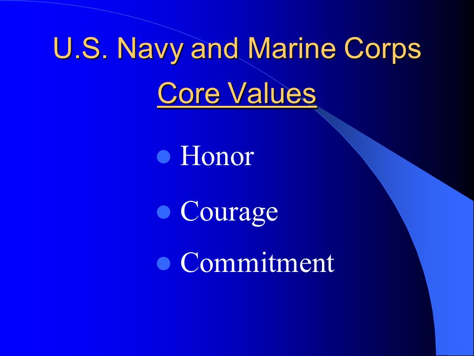 8 U S Navy And Marine Corps Core Values