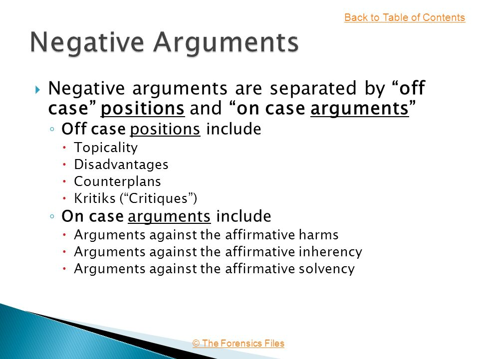 argumentation against the affirmative case Reviews and answers some of the most common arguments against affirmative action, including that it violates the merit principle, is unfair to innocent whites.