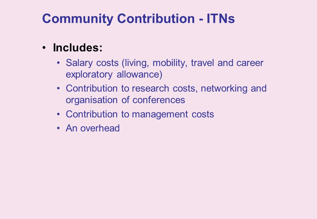 Community Contribution - ITNs