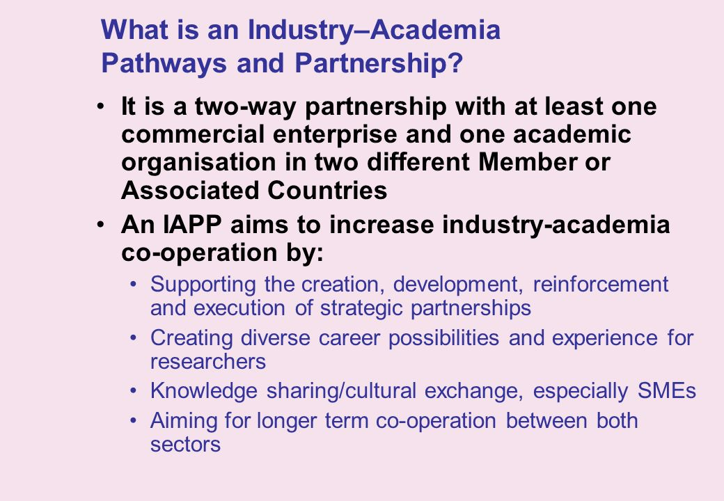 What is an Industry–Academia Pathways and Partnership