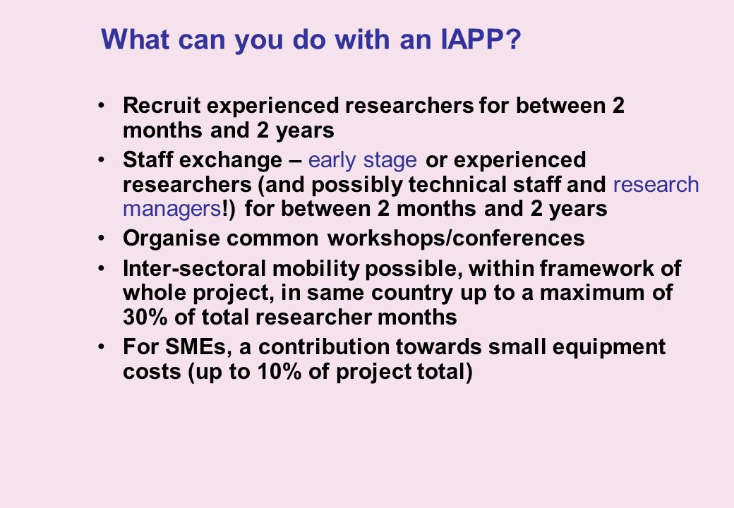 What can you do with an IAPP