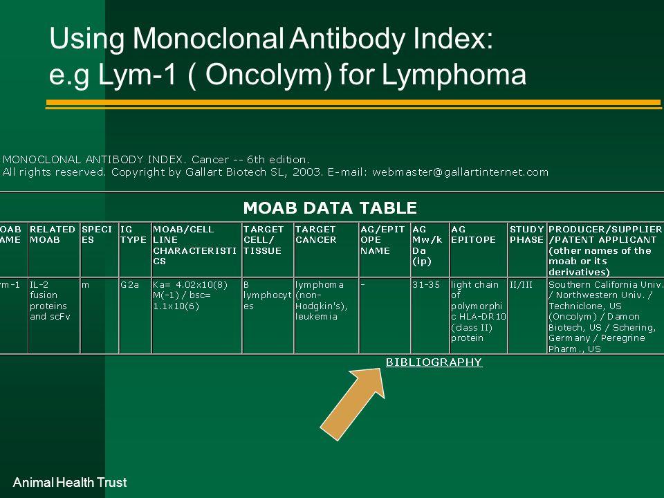 Using Monoclonal Antibody Index: