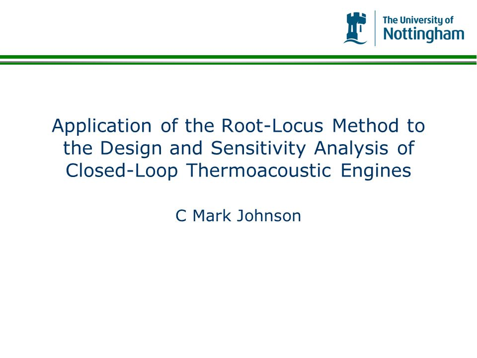 Application of the Root-Locus Method to the Design and Sensitivity Analysis of Closed-Loop Thermoacoustic Engines