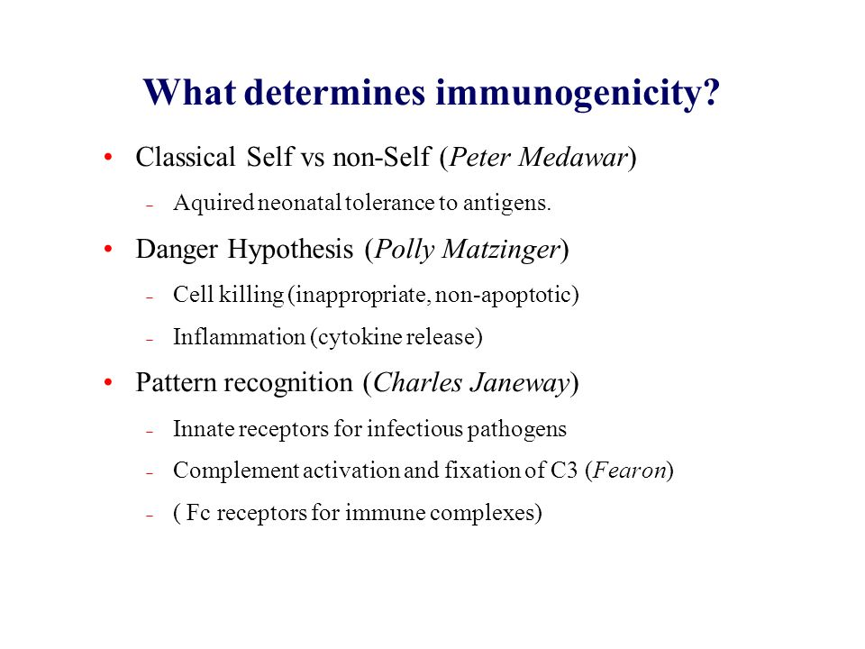 What determines immunogenicity