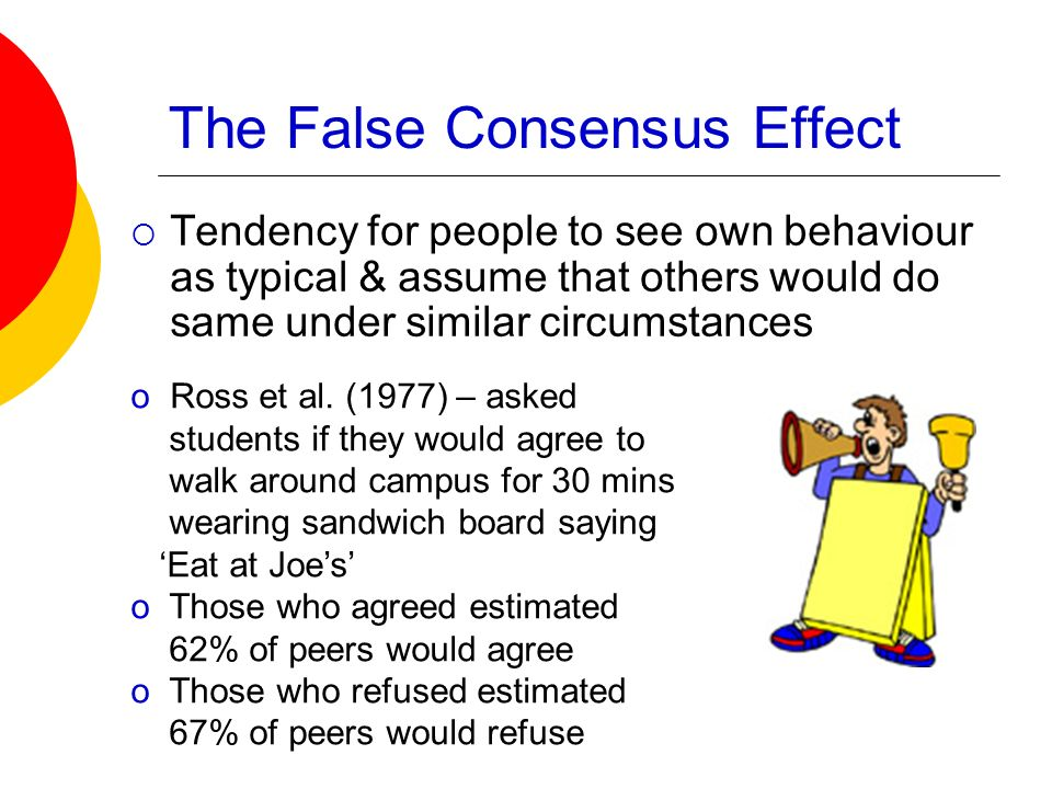 The False Consensus Effect