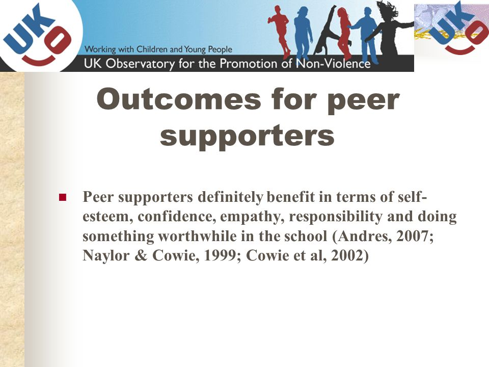 Outcomes for peer supporters