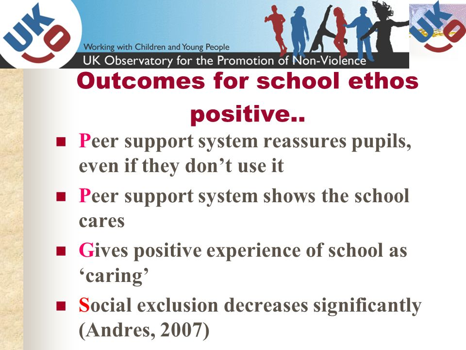 Outcomes for school ethos positive..