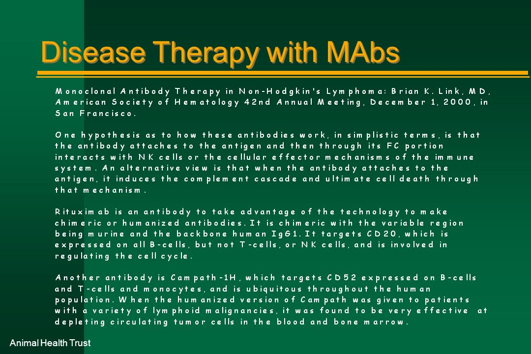 Disease Therapy with MAbs