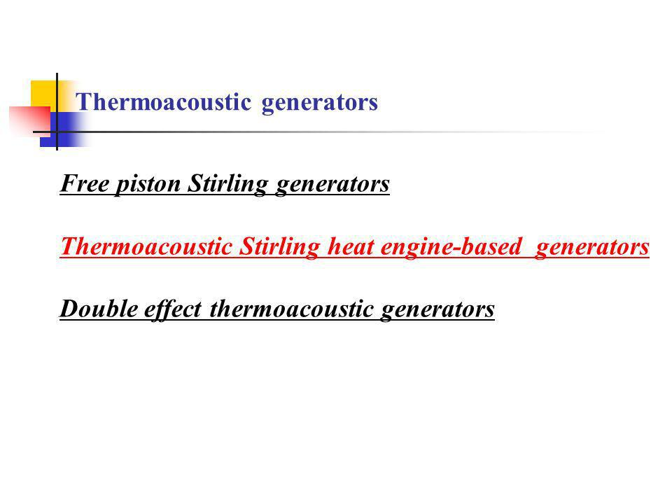 Thermoacoustic generators