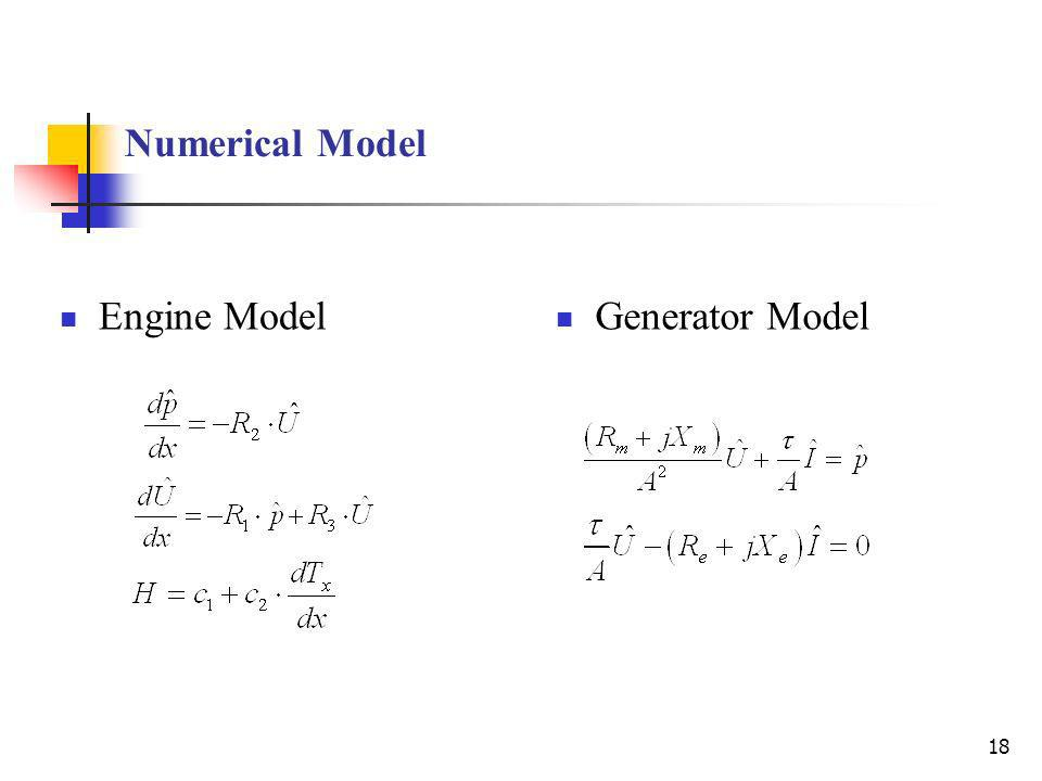 Numerical Model Engine Model Generator Model