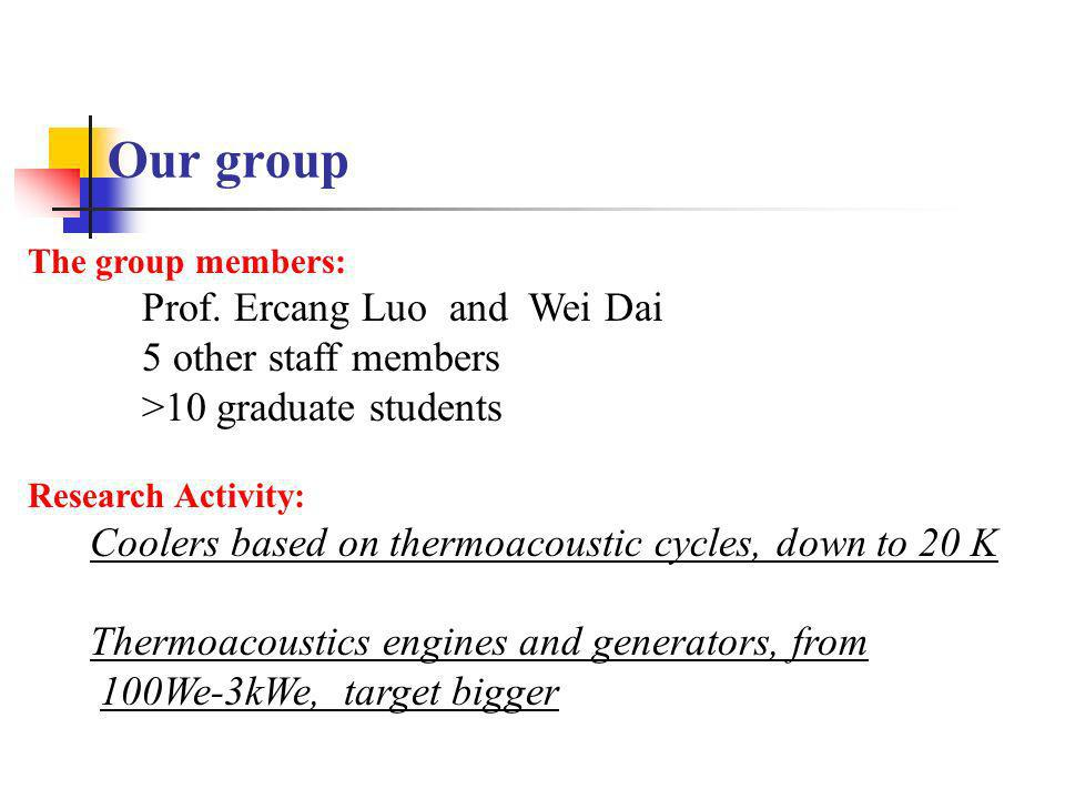 Our group Prof. Ercang Luo and Wei Dai 5 other staff members