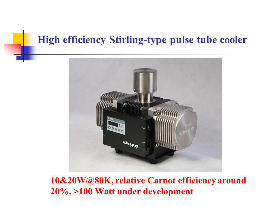 High efficiency Stirling-type pulse tube cooler