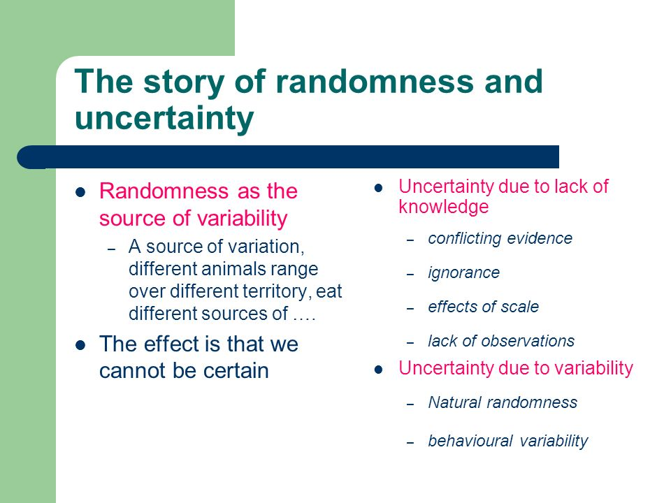 The story of randomness and uncertainty