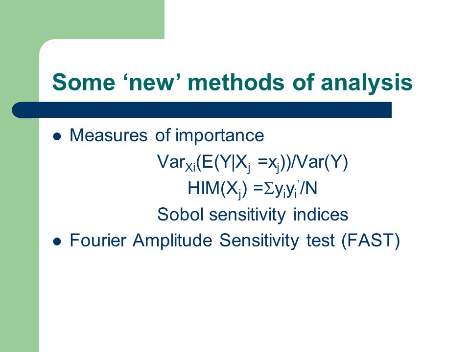 Some 'new' methods of analysis