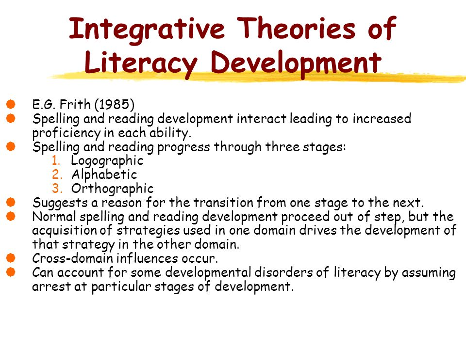 Integrative Theories of Literacy Development