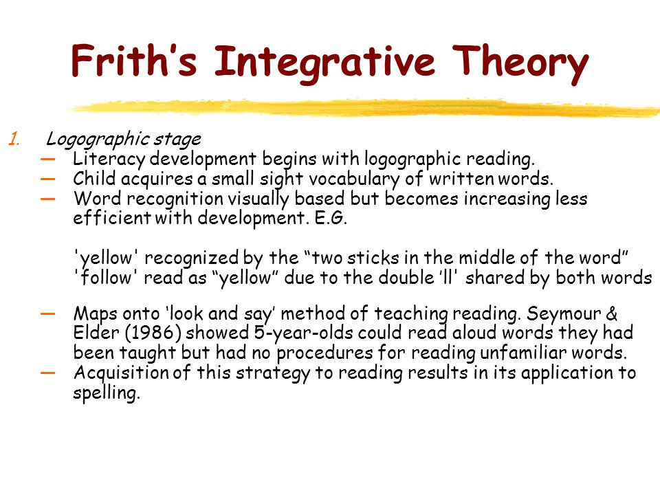 Frith's Integrative Theory
