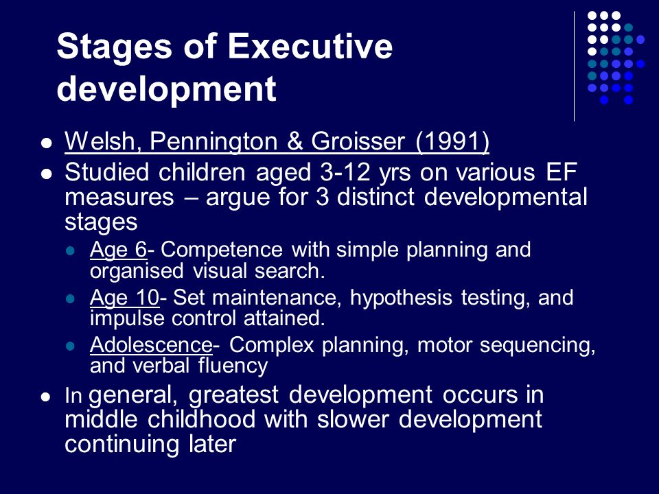 Stages of Executive development