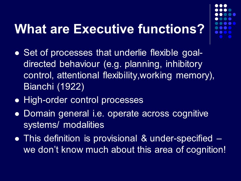 What are Executive functions