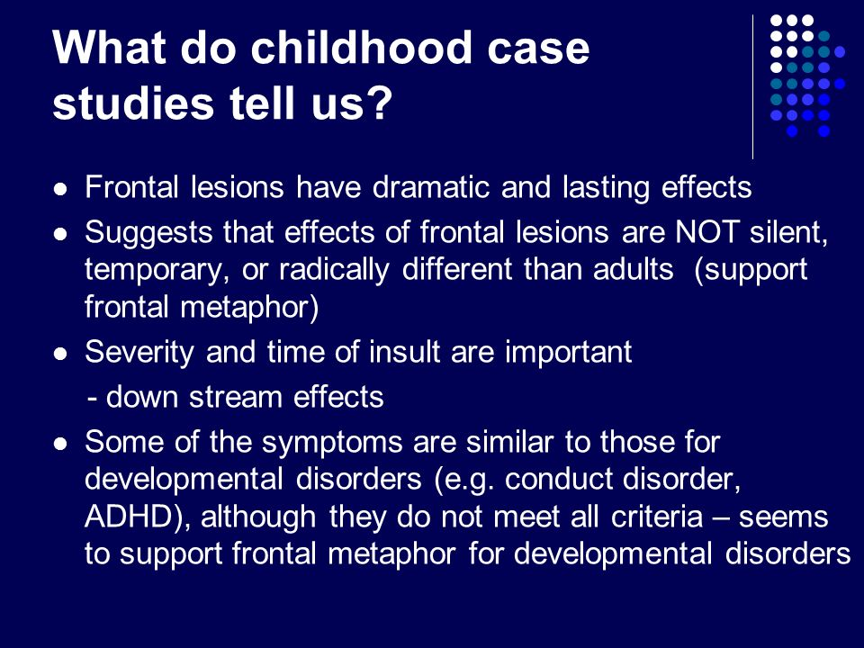 What do childhood case studies tell us