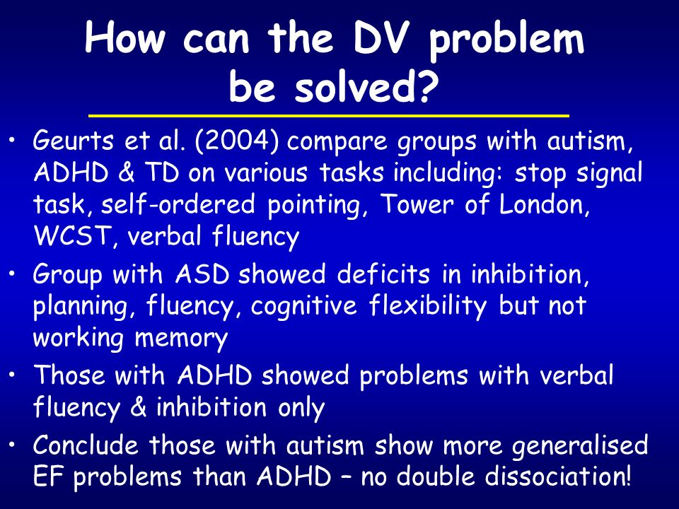 How can the DV problem be solved