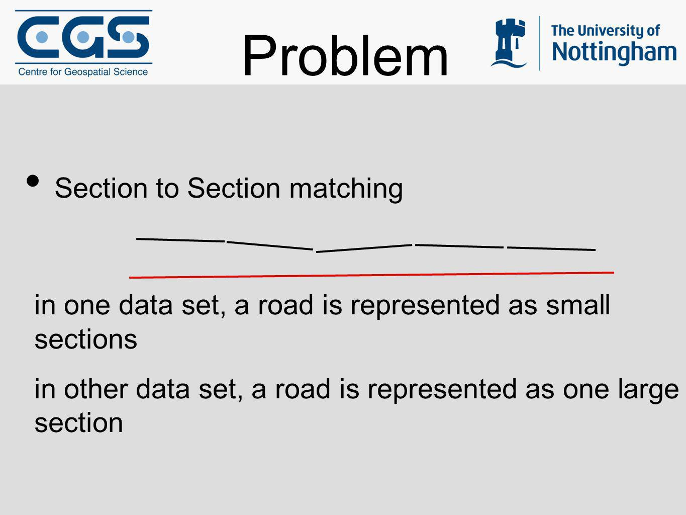 Problem Section to Section matching
