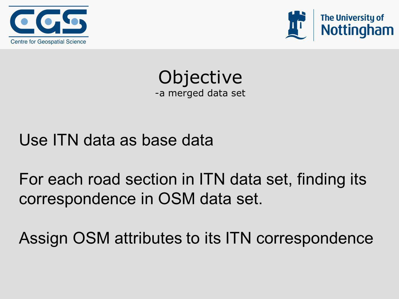 Objective Use ITN data as base data