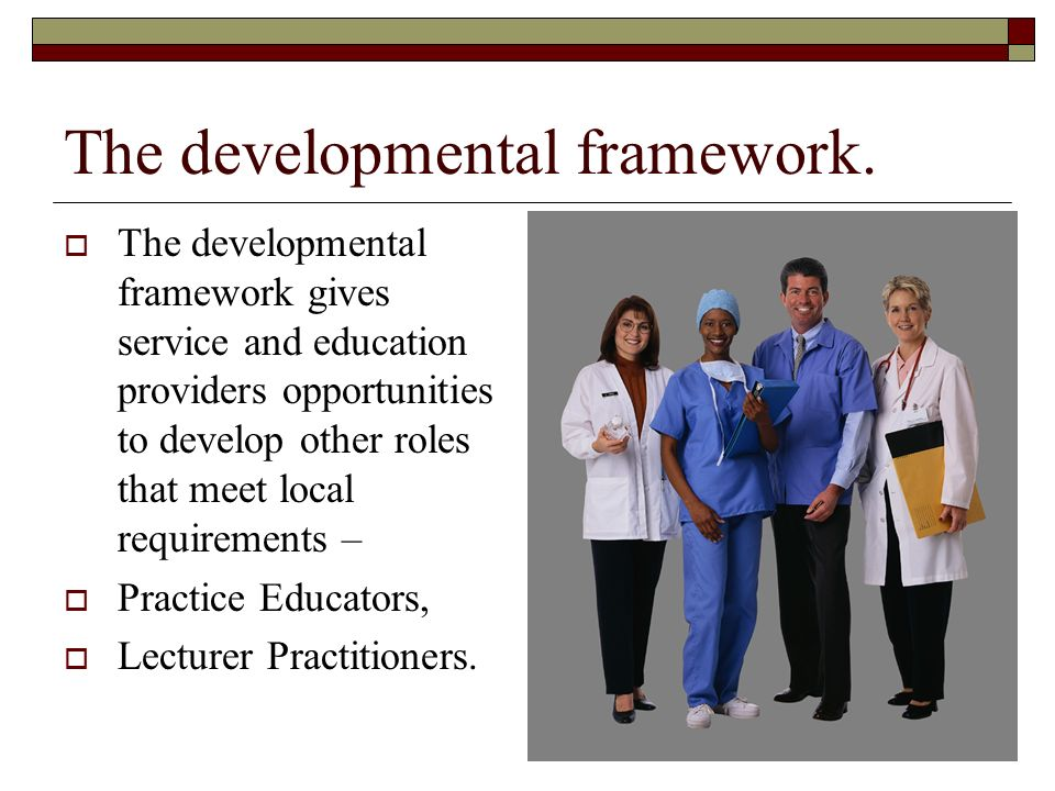 The developmental framework.