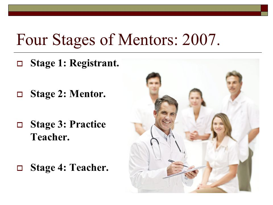 Four Stages of Mentors: 2007.