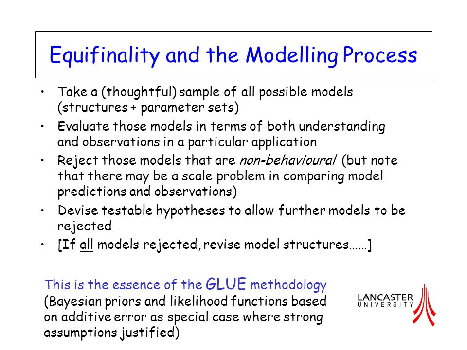 Equifinality and the Modelling Process