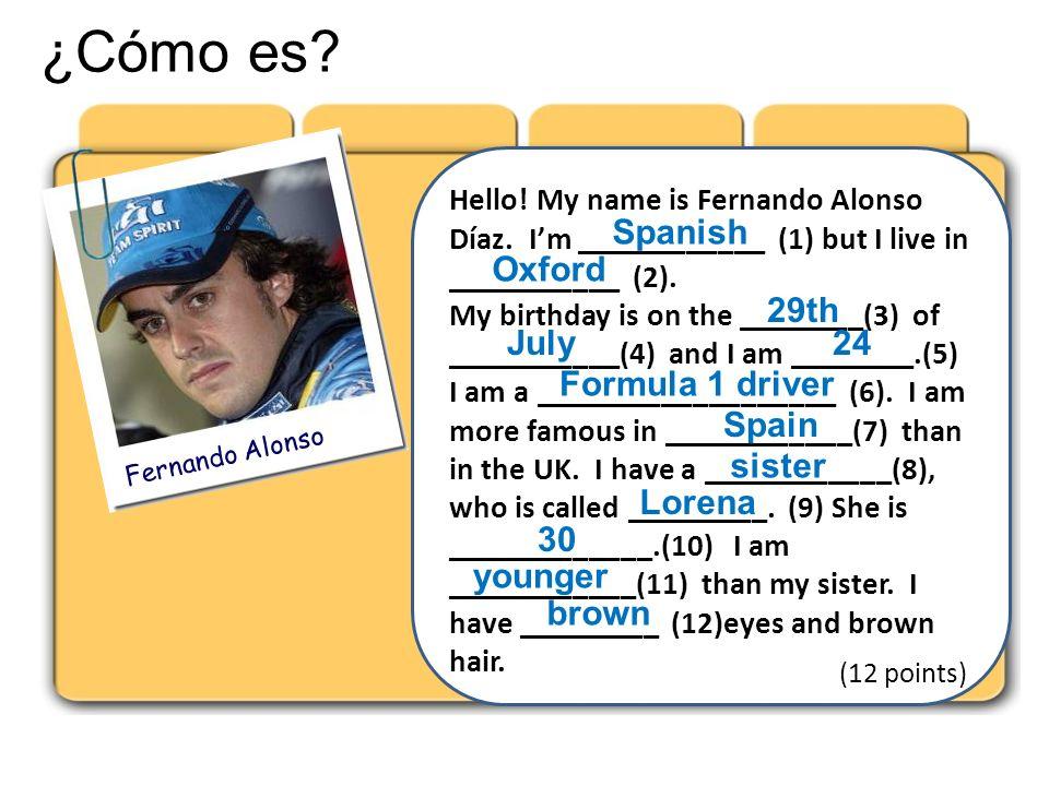 ¿Cómo es Spanish Oxford 29th July 24 Formula 1 driver Spain sister