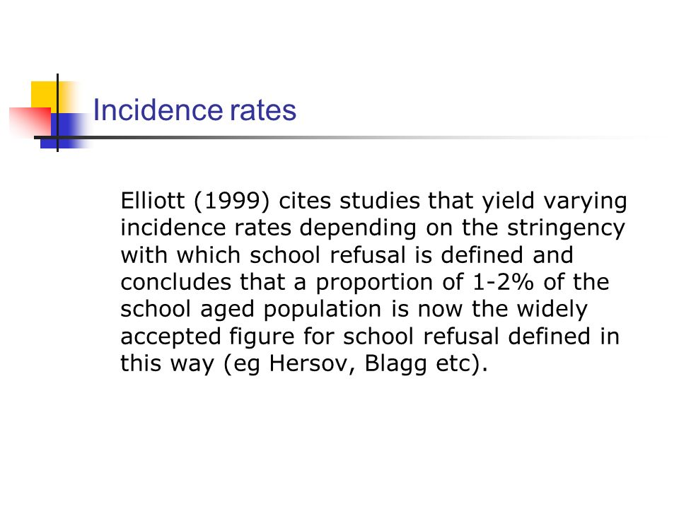 Incidence rates