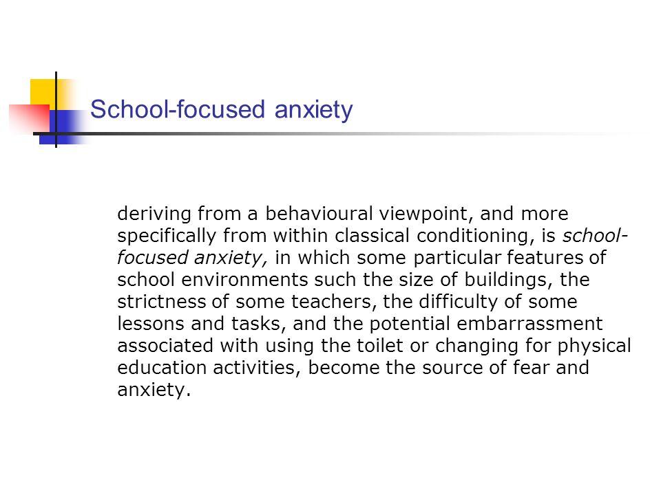School-focused anxiety