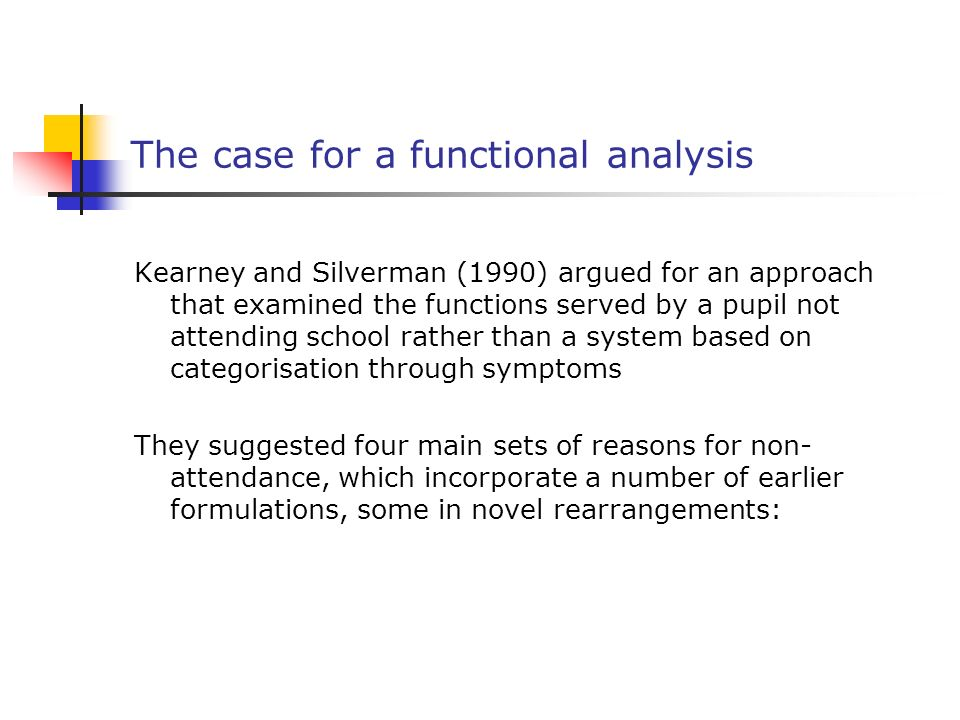 The case for a functional analysis