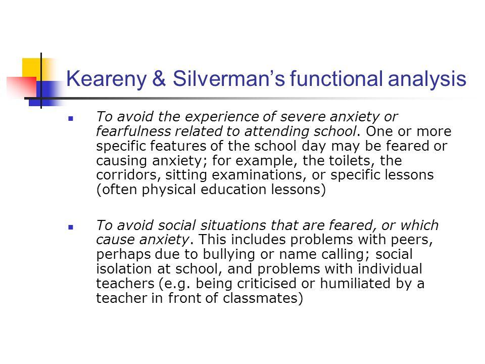 Keareny & Silverman's functional analysis
