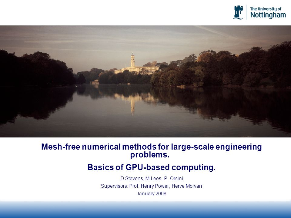 Mesh-free numerical methods for large-scale engineering problems.