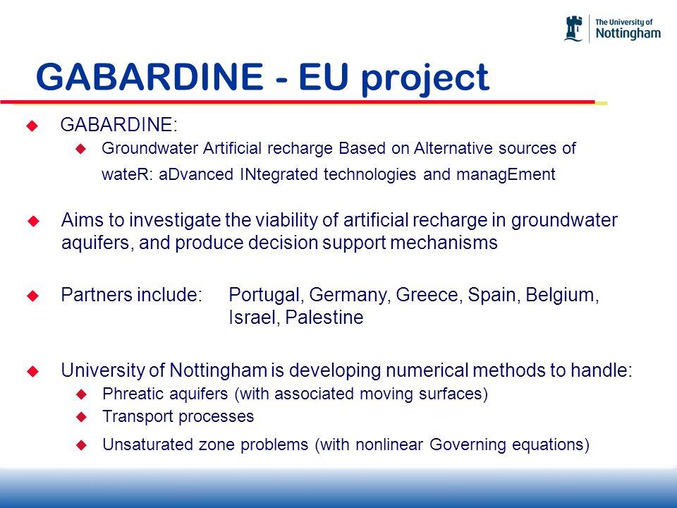 GABARDINE - EU project GABARDINE: