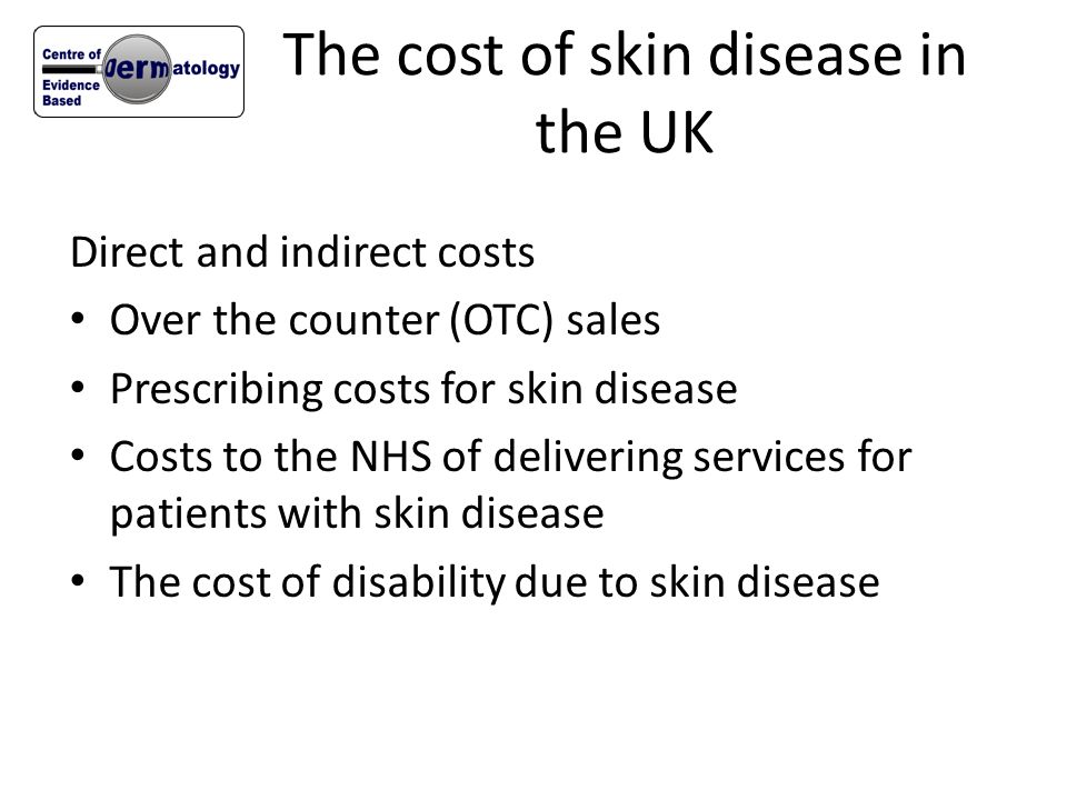 The cost of skin disease in the UK