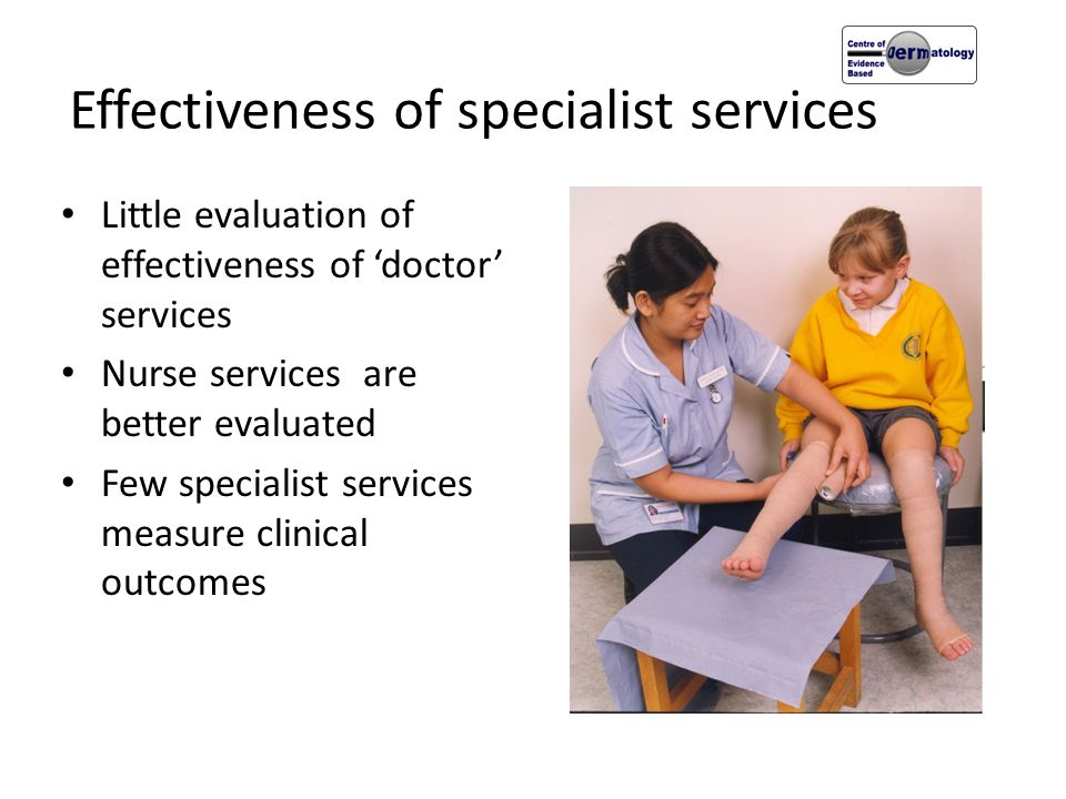 Effectiveness of specialist services