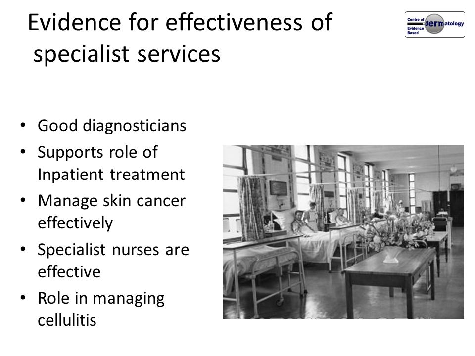 Evidence for effectiveness of specialist services